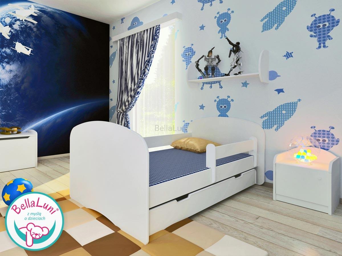 łóżko Dziecięce Z Szufladą Happy Białe