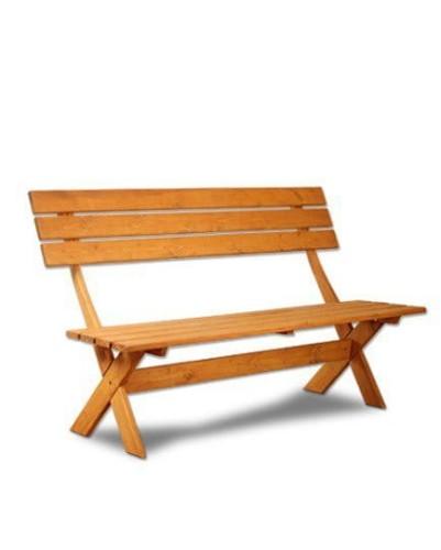 W superbly Solidna ławka drewniana z oparciem - marka BellaLuni OL33